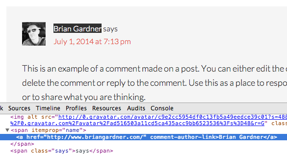 Comment Author Link Bug in Genesis 2.1.0